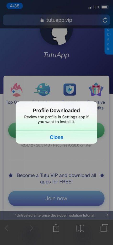 طريقة فك الحظر لتثبيت متجر توتو اب لايت النسخة المدفوعة vip