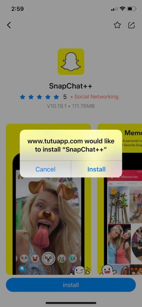 تثبيت برنامج snapchat plus على الايفون