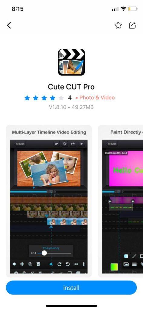 تحميل Cute Cut Pro للايفون - الارنب الصيني