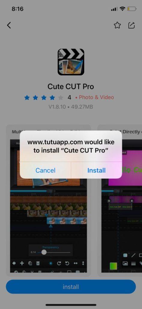 برنامج Cute Cut Pro للايفون - متجر الارنب TuTuApp
