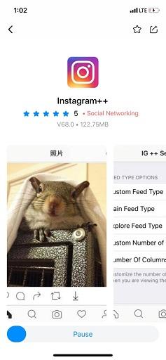 تحميل Instagram Plus للايفون متجر tutuapp