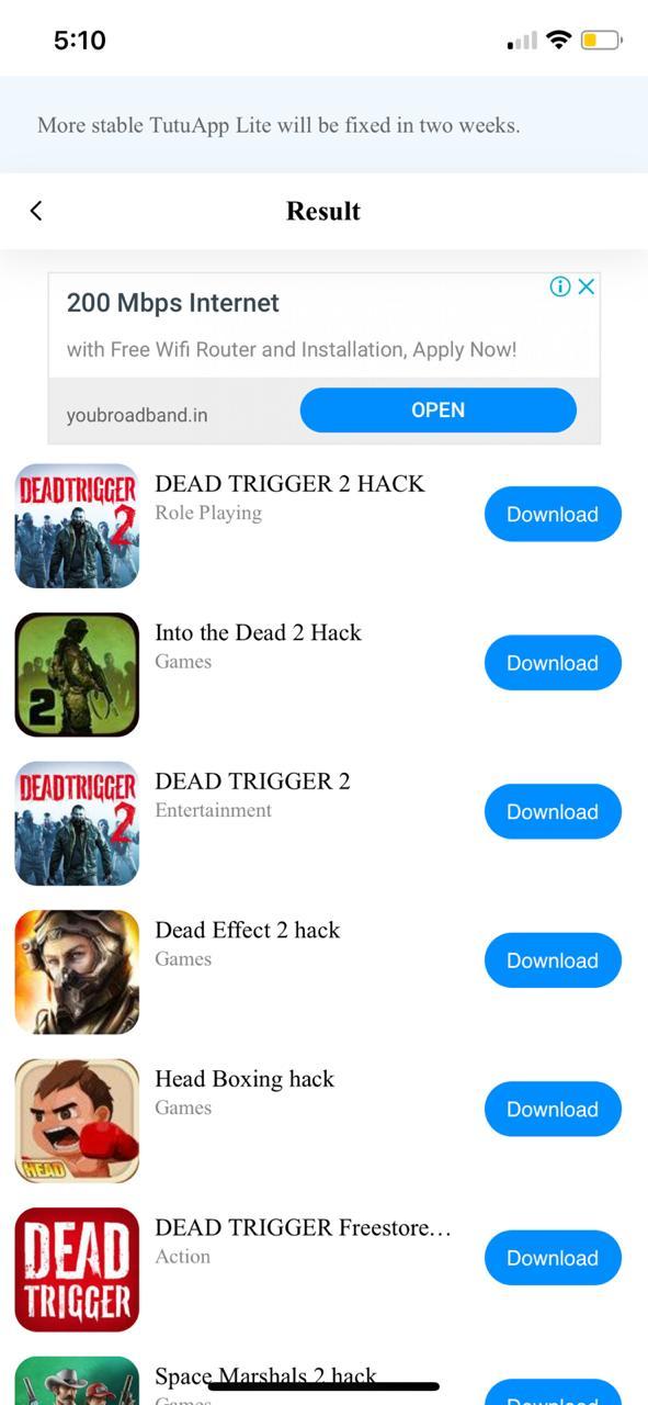 لعبة Dead Trigger 2 مهكرة للايفون - برنامج tutuapp