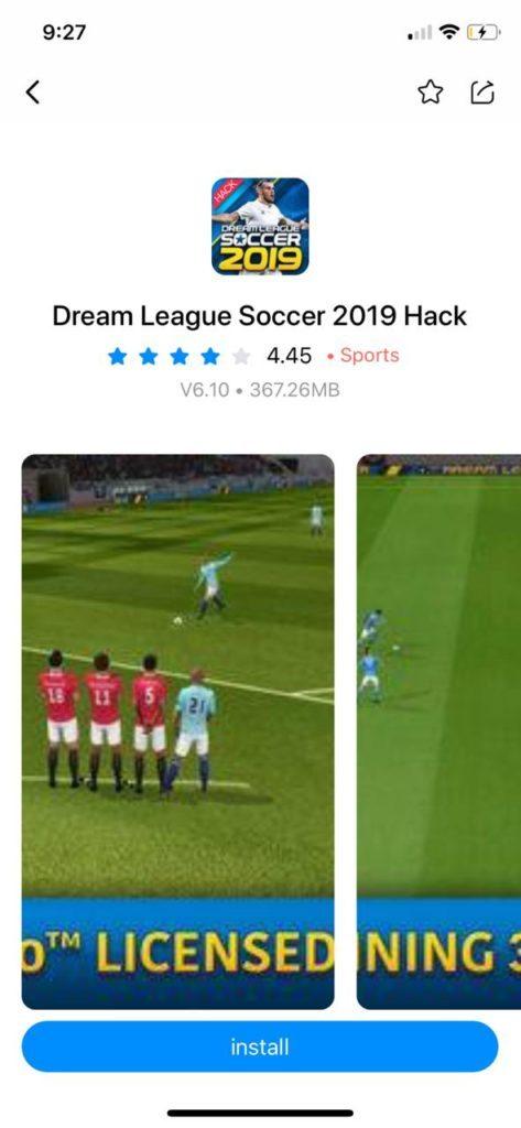 تحميل Dream Leageu Soccer 2019 مهكرة للايفون